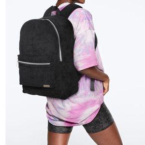 Victoria's Secret PINK Backpack Black Corduroy NEW